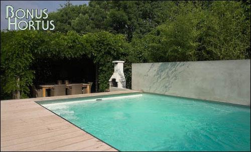 Bonus hortus tuinontwerp tuinafscheiding - Muur zwembad ...